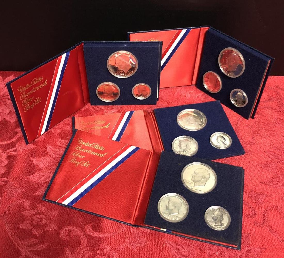 Lot of 4 Silver 1976 Bicentennial 3-pc Proof Sets