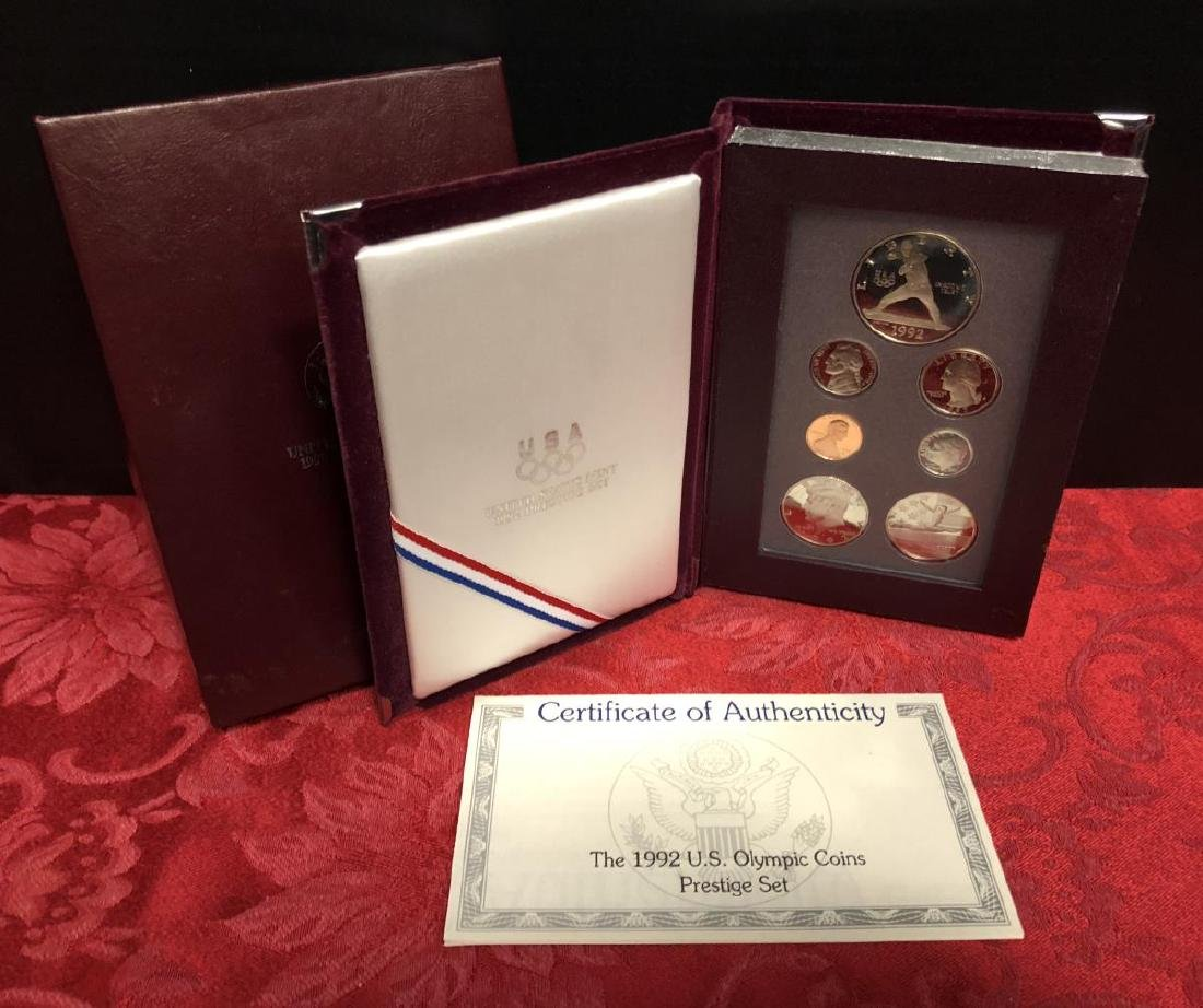 1992 Prestige Proof Set w/Olympic Baseball $1