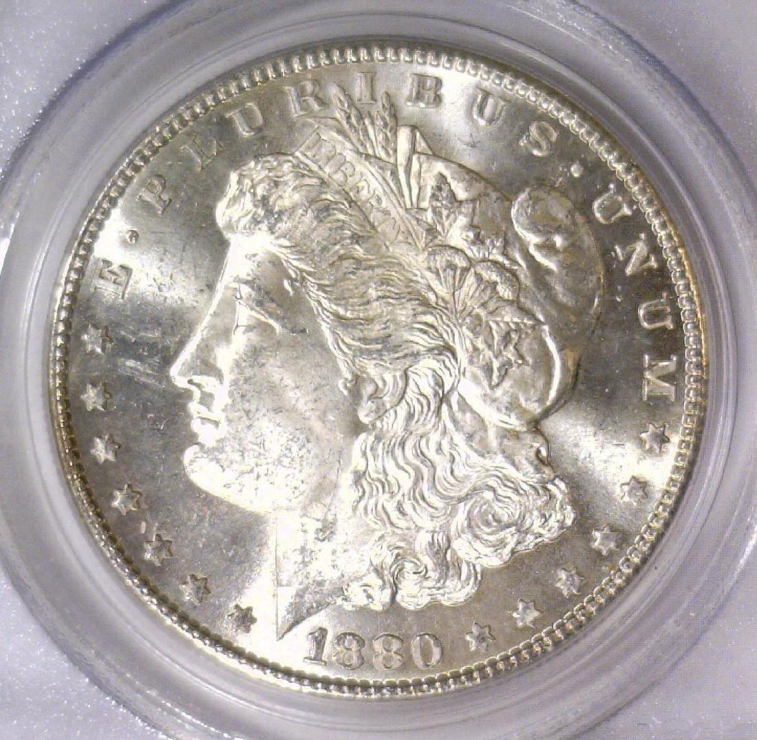 1880-S Morgan Silver Dollar PCGS MS64