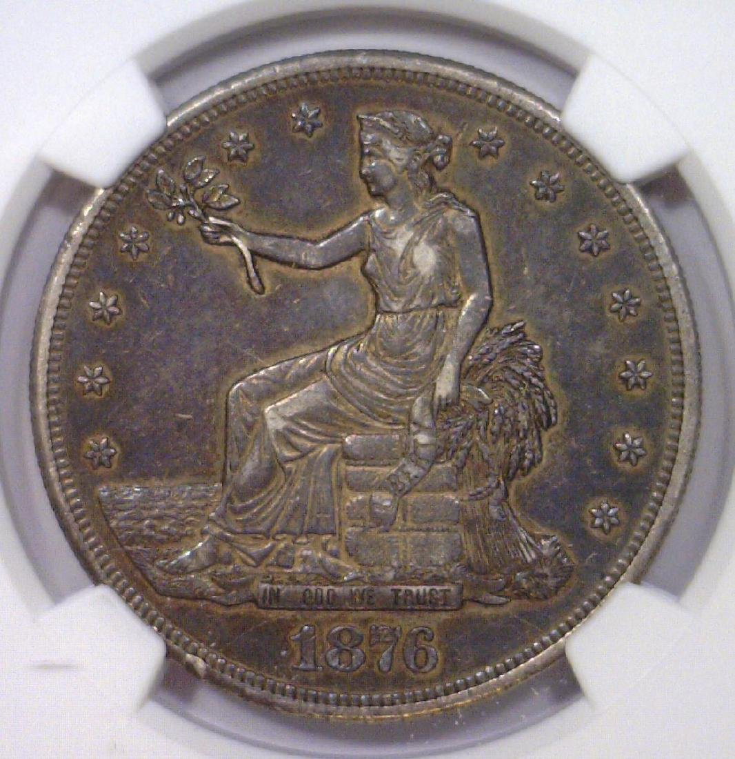 1876-CC Trade Dollar No Chopmarks NGC AU50