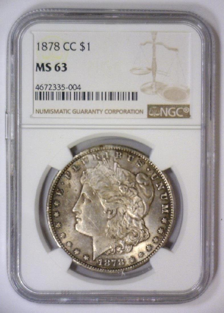1878-CC Morgan Silver Dollar NGC MS63 - 2