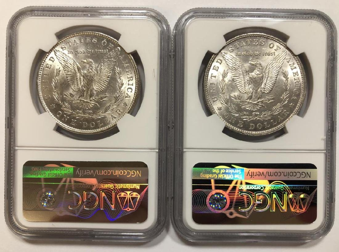 Pair of 1879 Morgan Silver Dollars NGC MS61 - 2