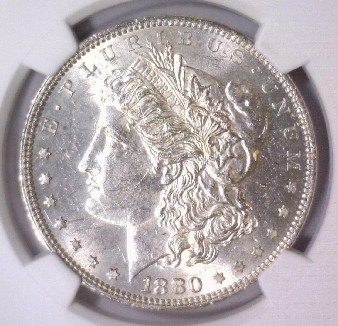 1880 Morgan Silver Dollar NGC MS61