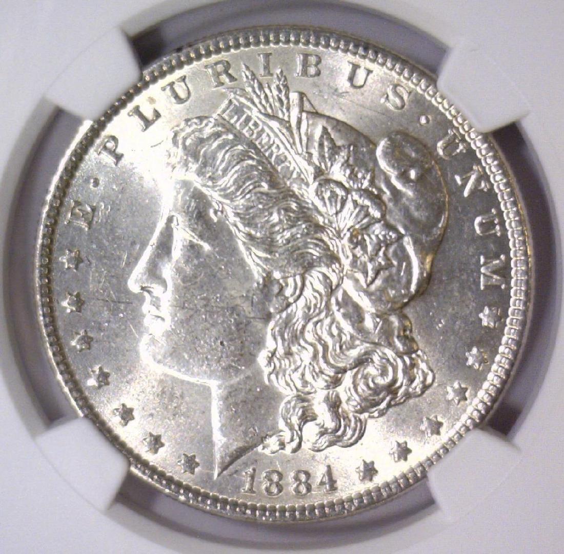 1884 Morgan Silver Dollar NGC MS61