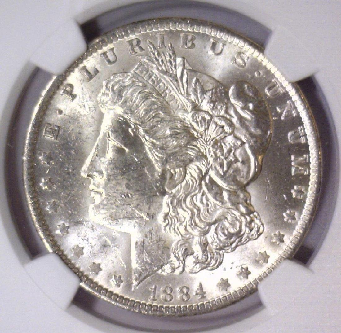 1884-O Morgan Silver Dollar NGC MS61