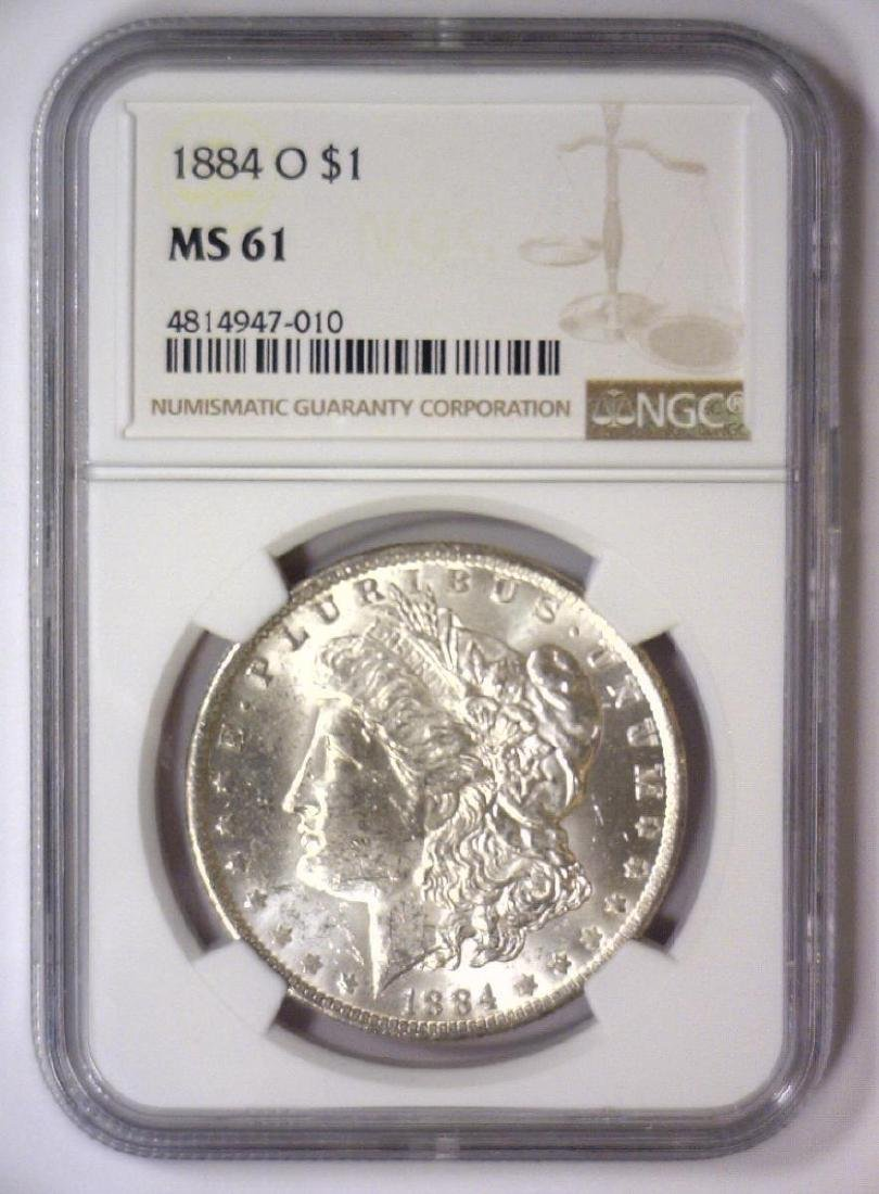 1884-O Morgan Silver Dollar NGC MS61 - 2