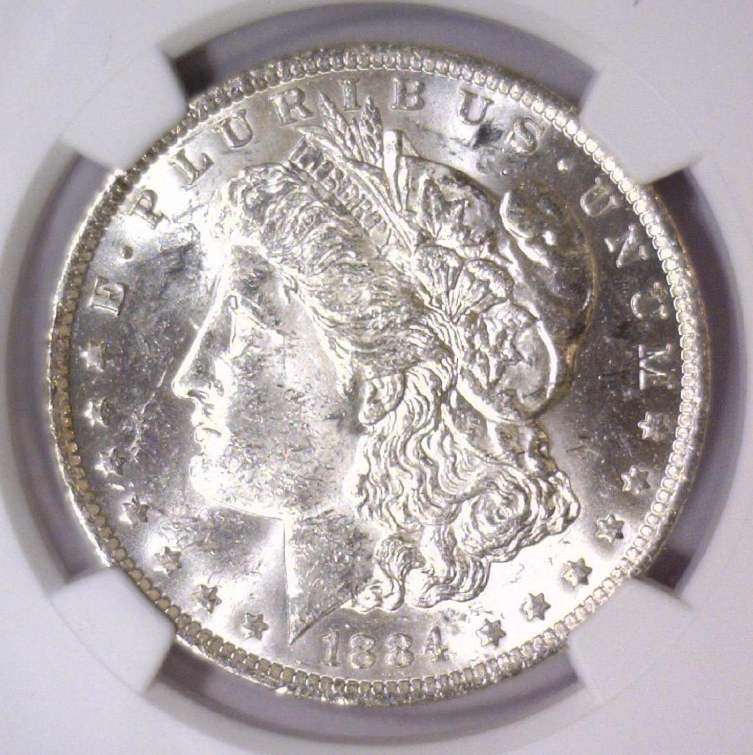 1884-O Morgan Silver Dollar NGC MS61