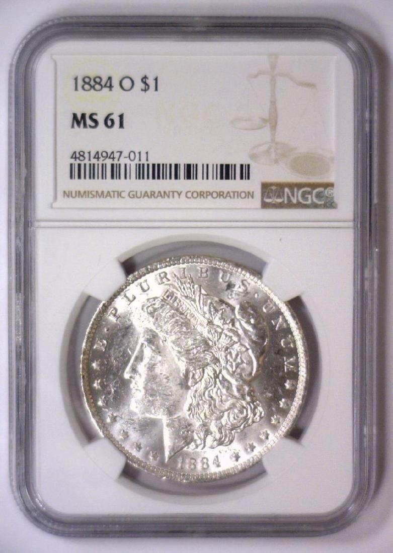 1884-O Morgan Silver Dollar NGC MS61 - 2