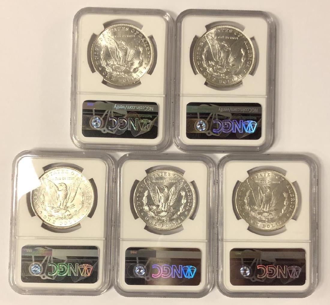 Investor Lot of 5 1886 Morgan Silver $1 NGC MS61 - 2