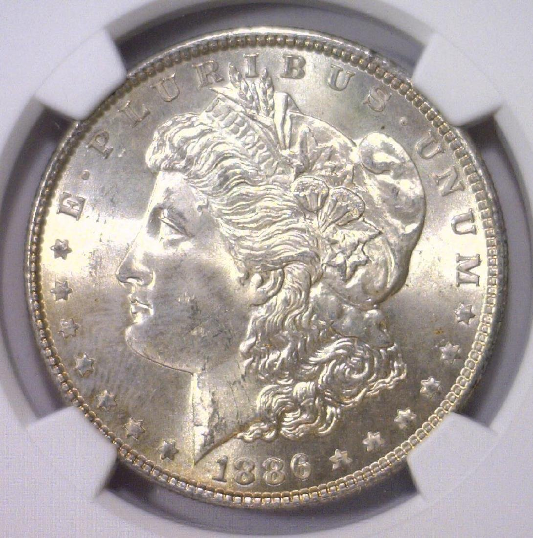Trio of 1886 Morgan Silver Dollars NGC MS64 - 3