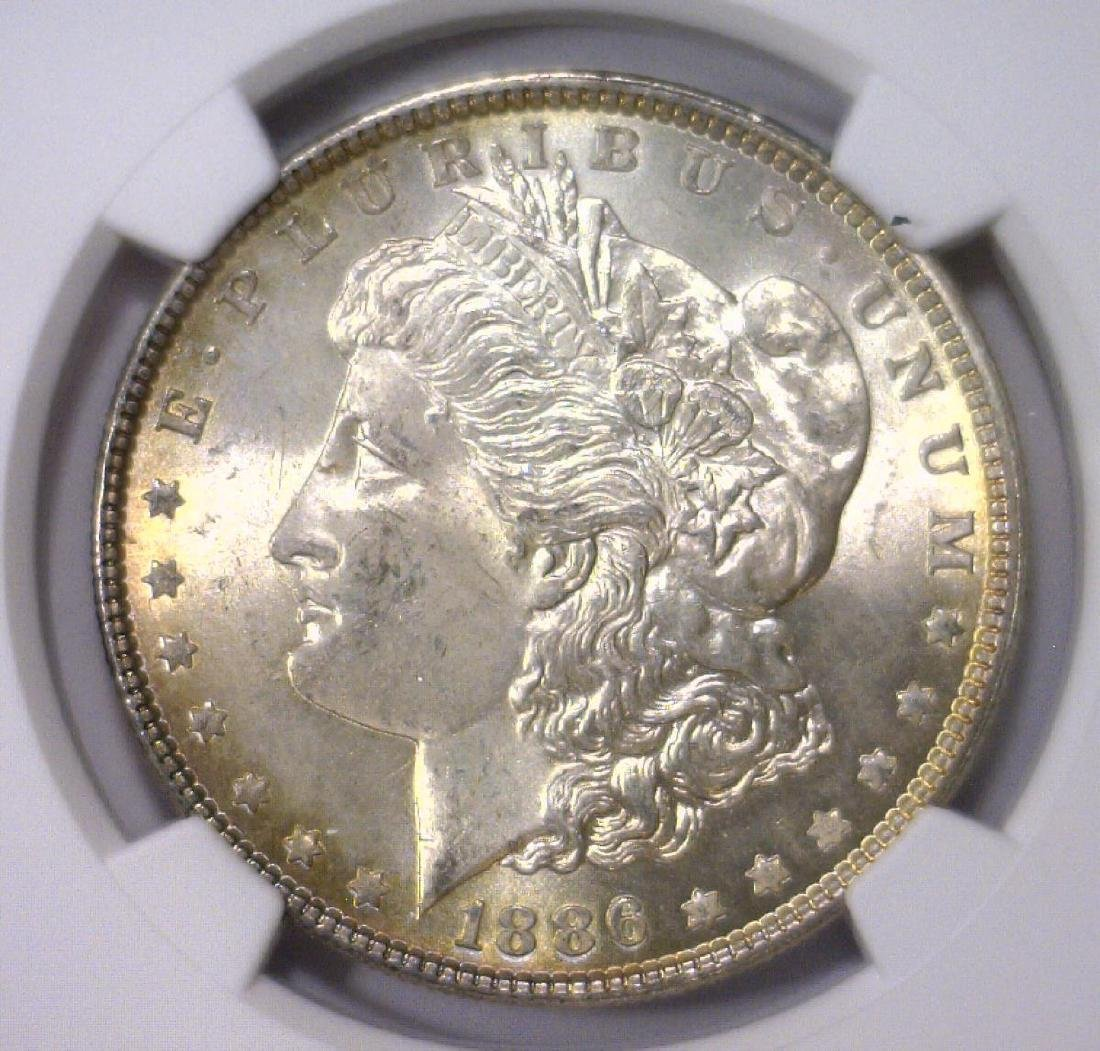 Trio of 1886 Morgan Silver Dollars NGC MS64 - 9