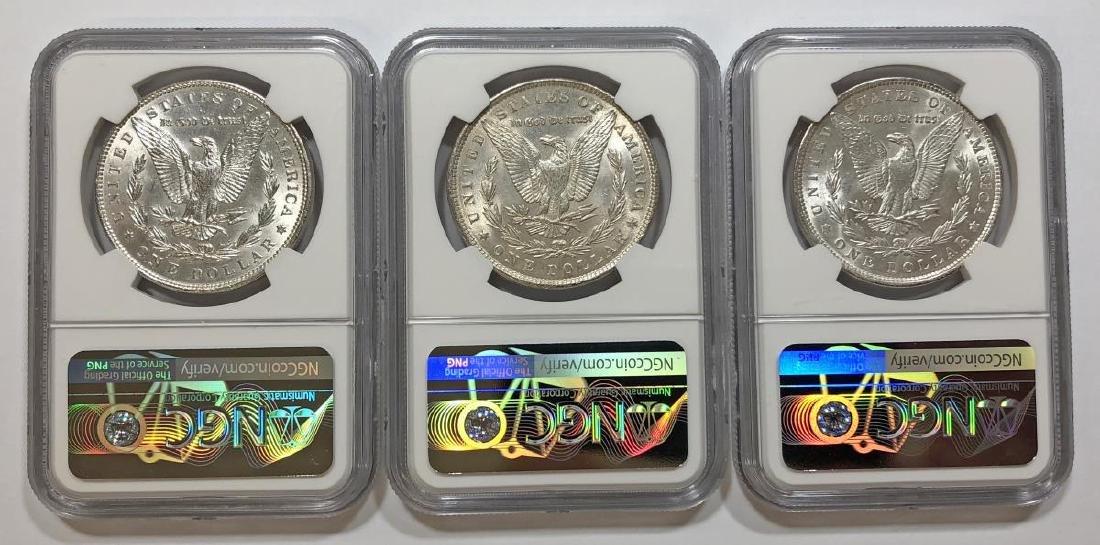Trio of 1889 Morgan Silver $1 NGC MS61 - 2
