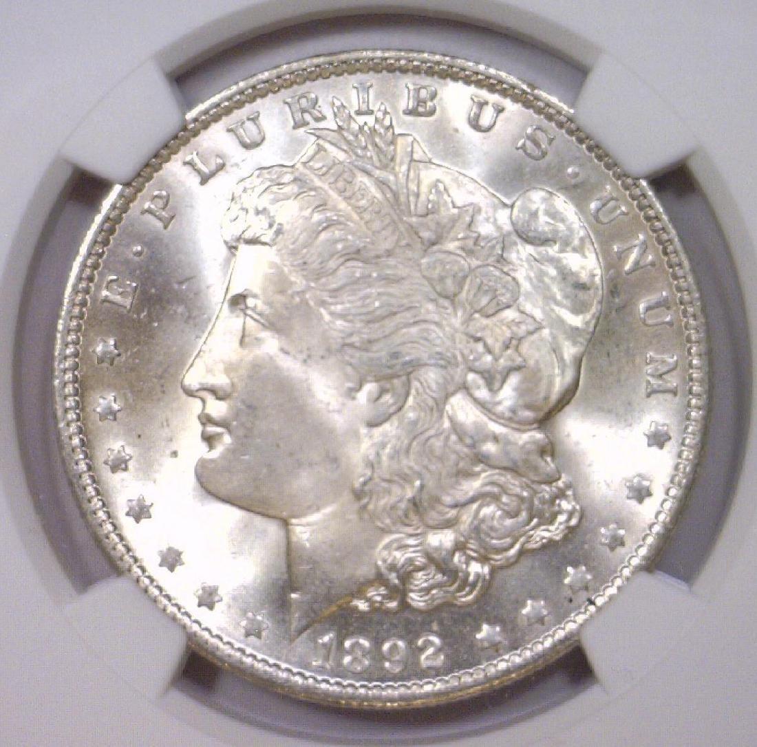 1892-O Morgan Silver Dollar NGC UNC details