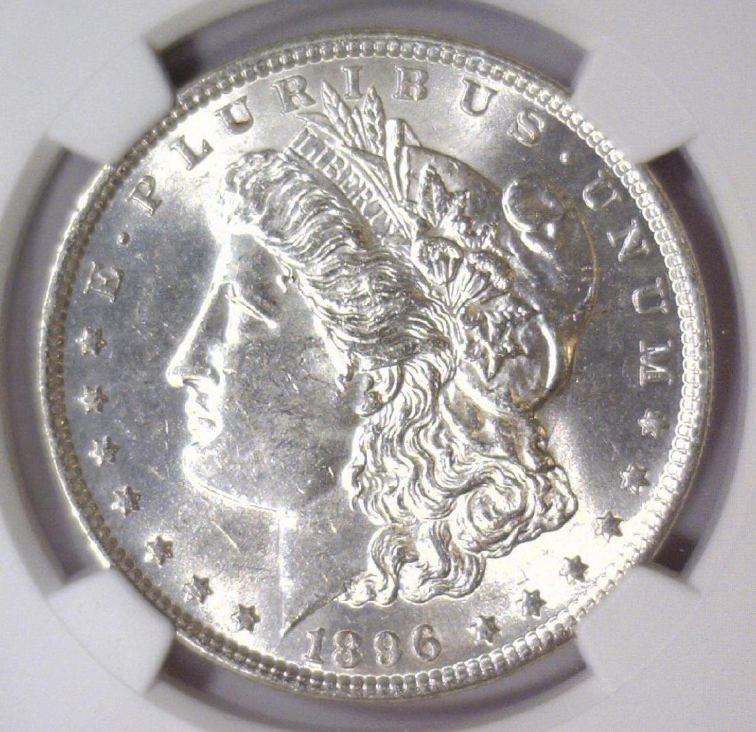 1896 Morgan Silver Dollar NGC MS61
