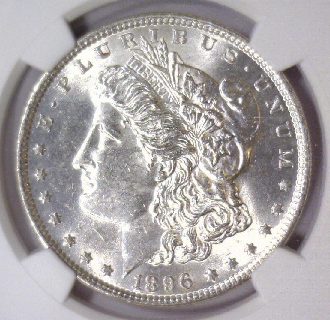 1896 Morgan Silver Dollar NGC MS61