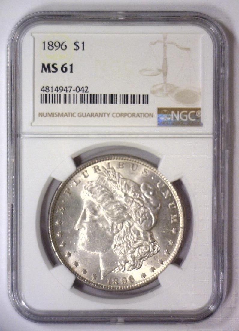 1896 Morgan Silver Dollar NGC MS61 - 2