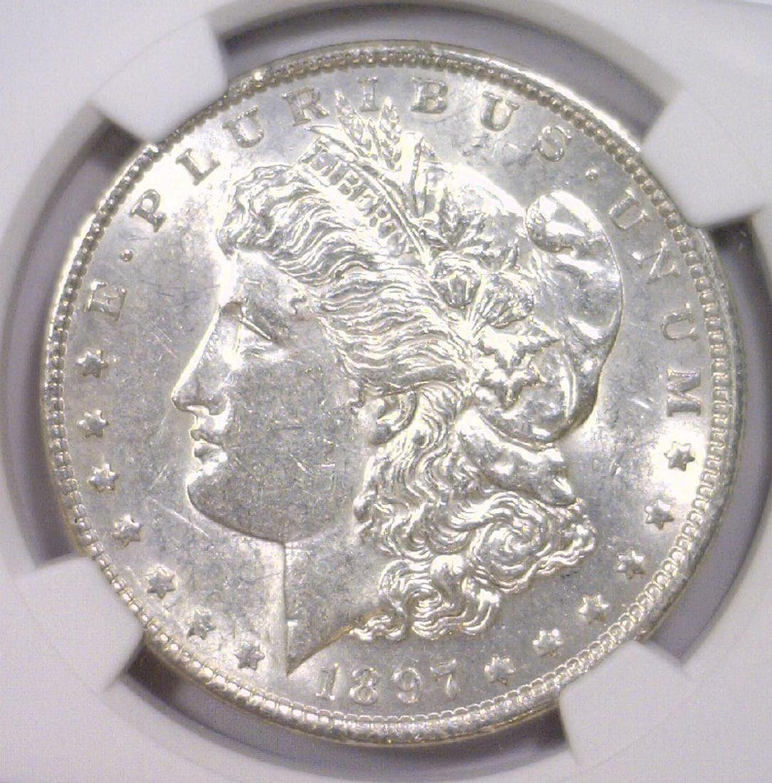 1897 Morgan Silver Dollar NGC AU58
