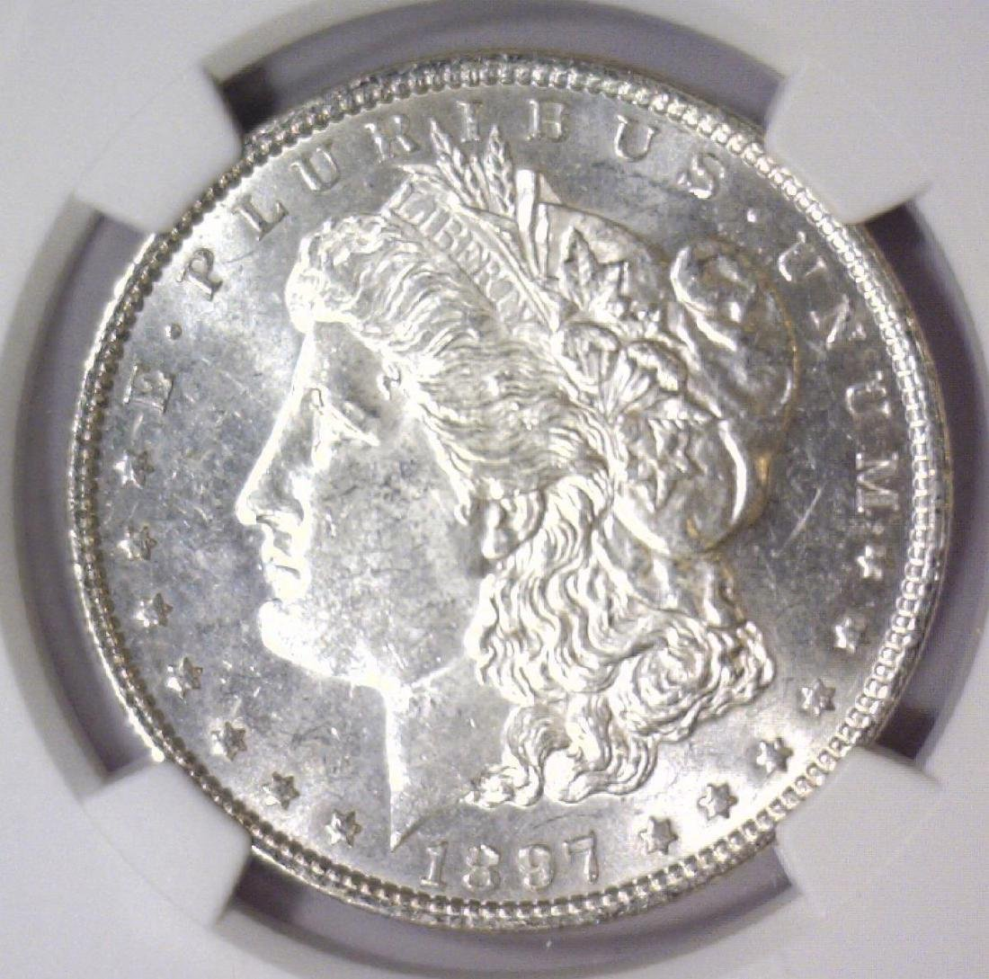 1897 Morgan Silver Dollar NGC MS61