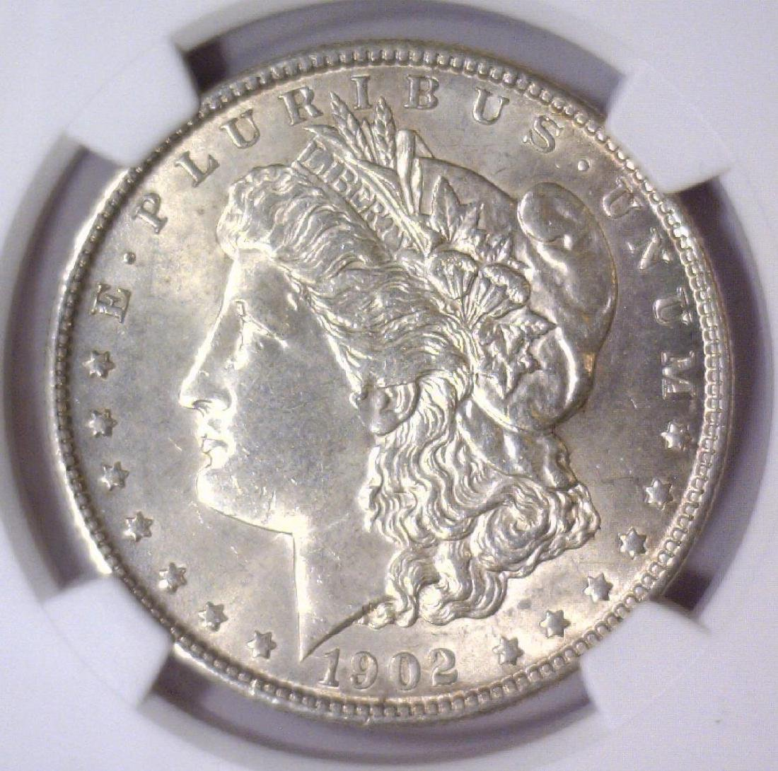 1902-O Morgan Silver Dollar NGC MS61