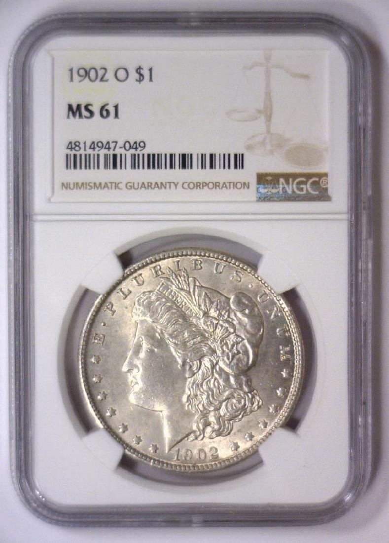 1902-O Morgan Silver Dollar NGC MS61 - 2