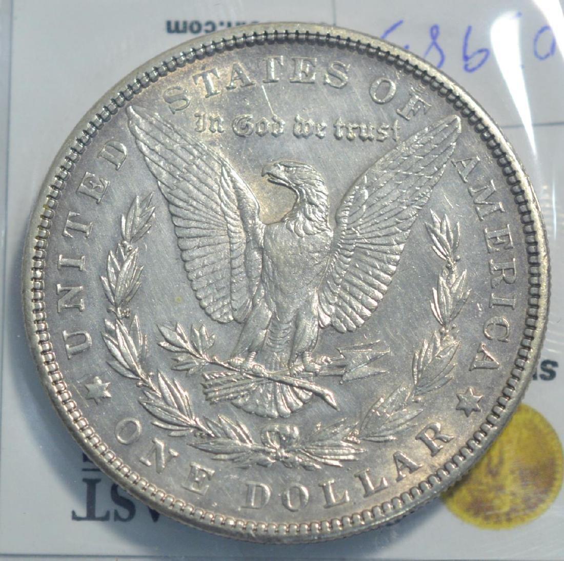1904 Morgan Silver Dollar BU lightly cleaned - 3