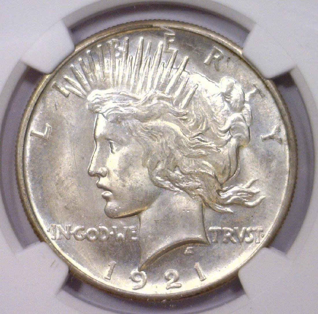 1921 Peace Silver High Relief Dollar NGC MS63