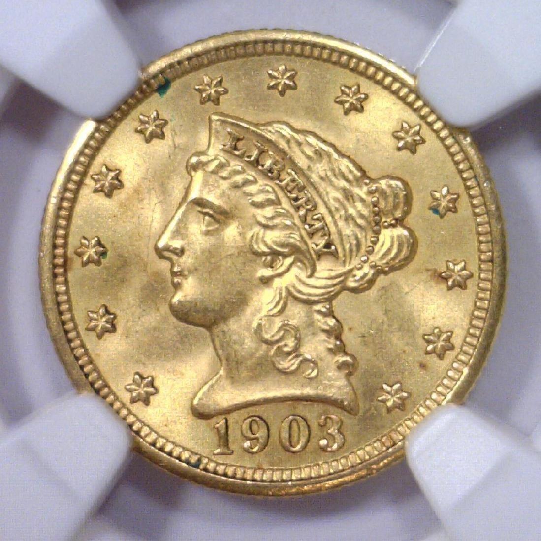 1903 $2.5 Liberty Gold Quarter Eagle NGC MS64+