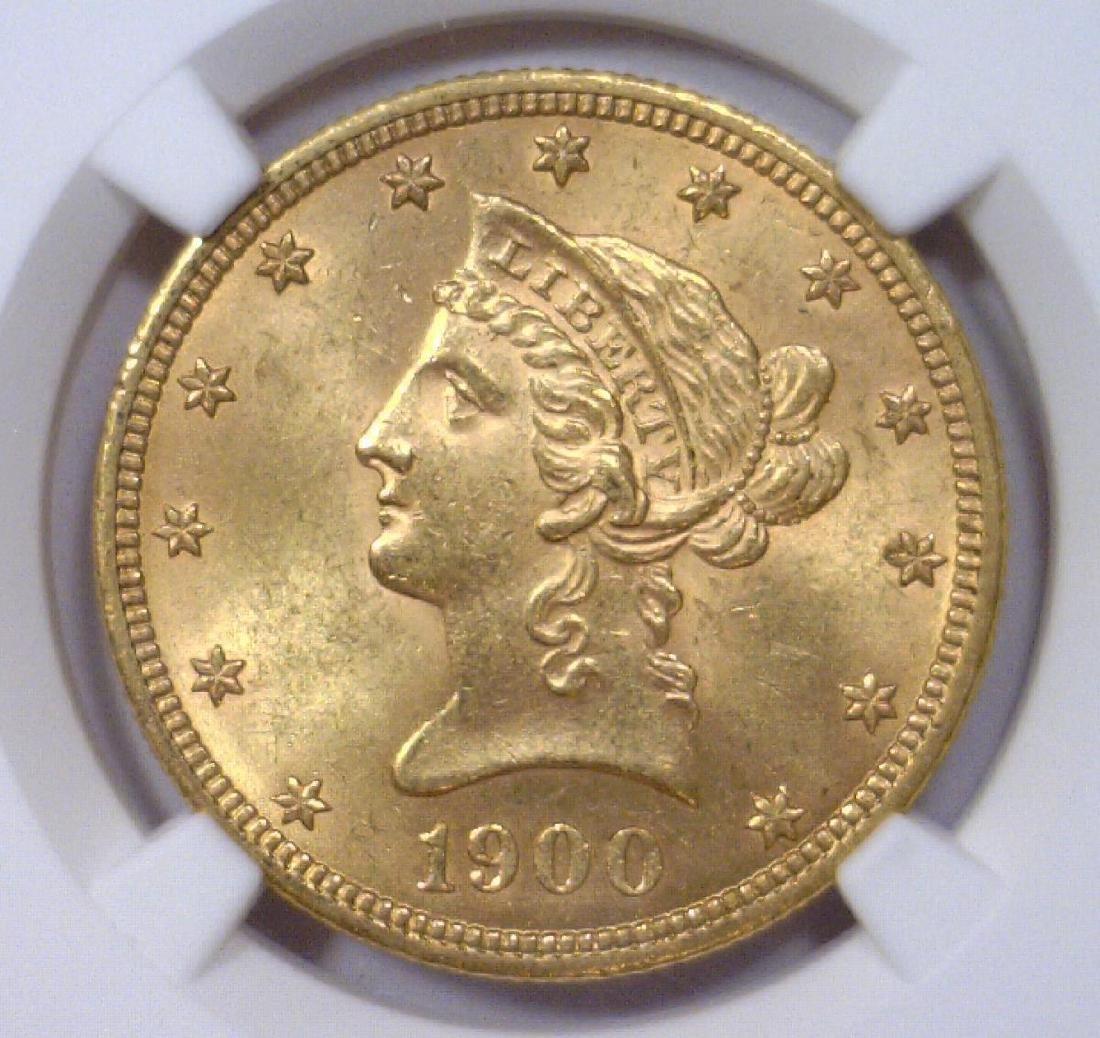1900 $10 Liberty Head Gold Eagle NGC MS62