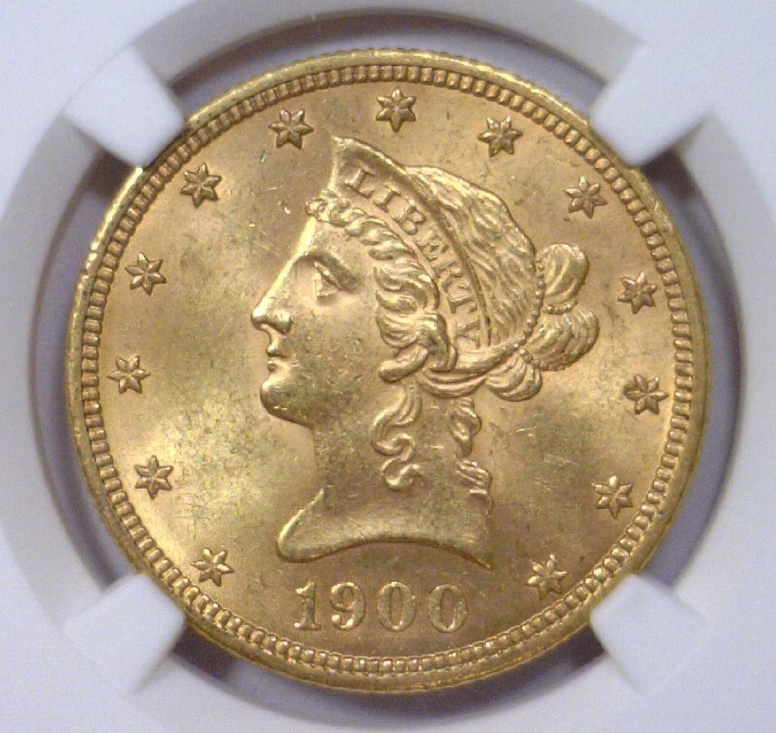 1900 $10 Liberty Head Gold Eagle NGC MS62