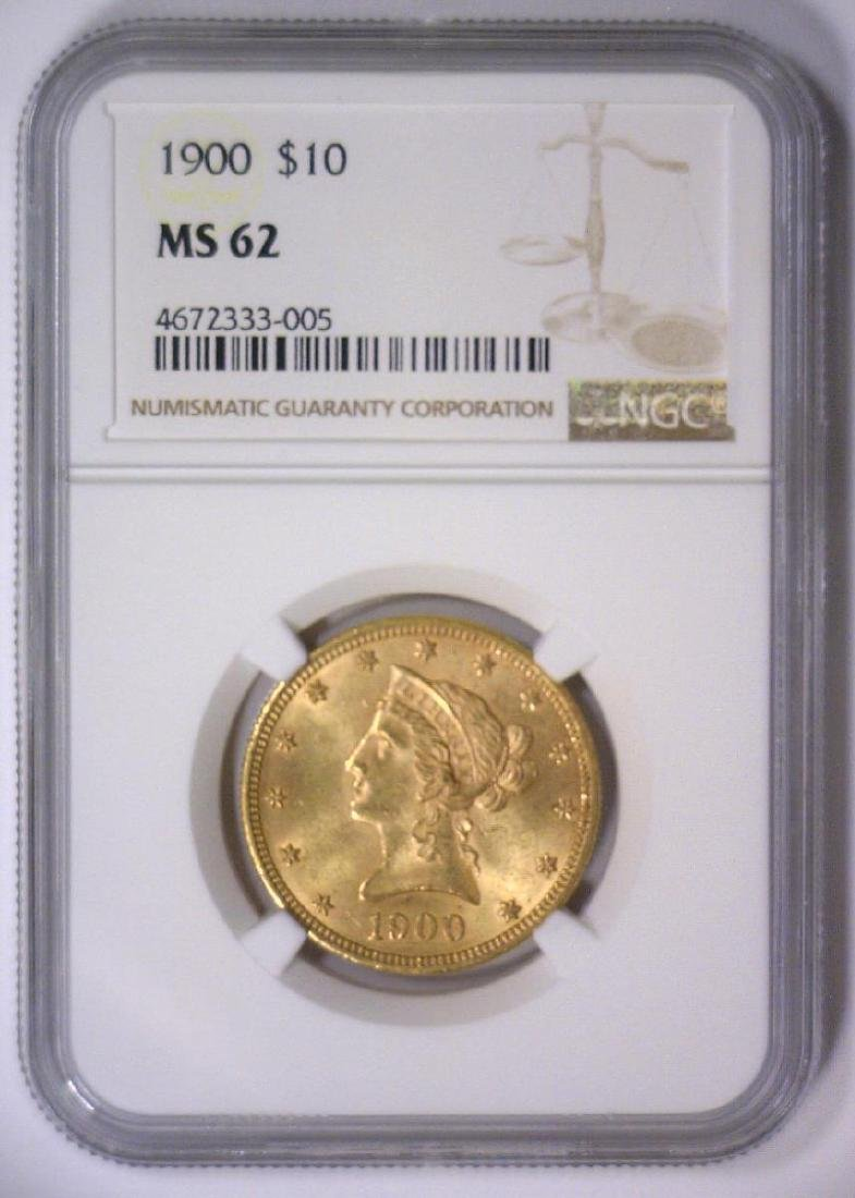 1900 $10 Liberty Head Gold Eagle NGC MS62 - 2