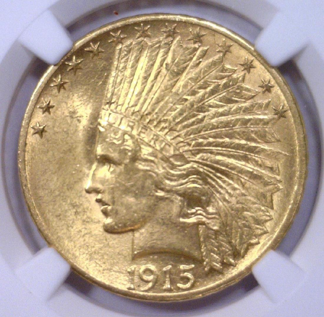 1915 $10 Indian Head Gold Eagle NGC MS61