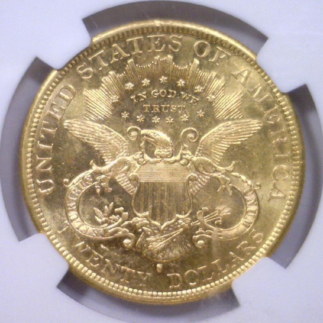 1877-S $20 Liberty Gold Double Eagle NGC AU58 - 3