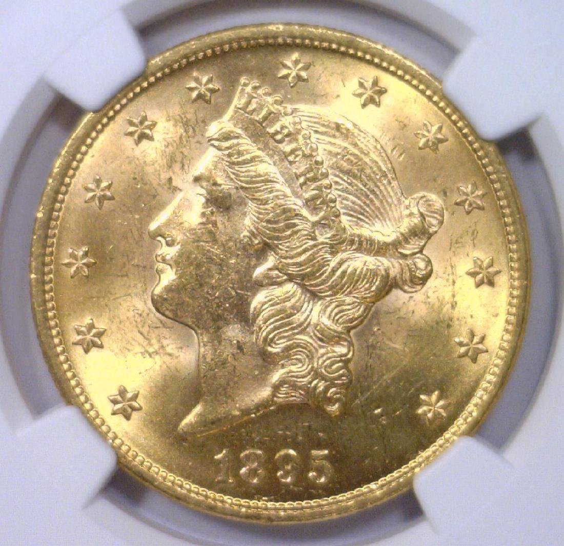 1895 $20 Liberty Gold Double Eagle NGC MS62