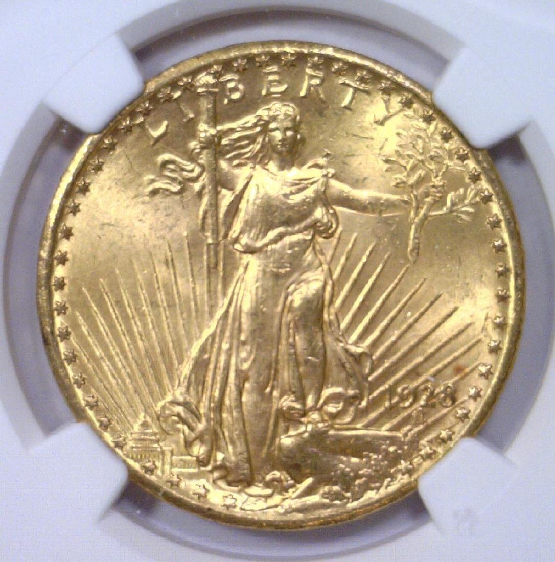 1928 $20 St Gaudens Gold Double Eagle NGC MS64
