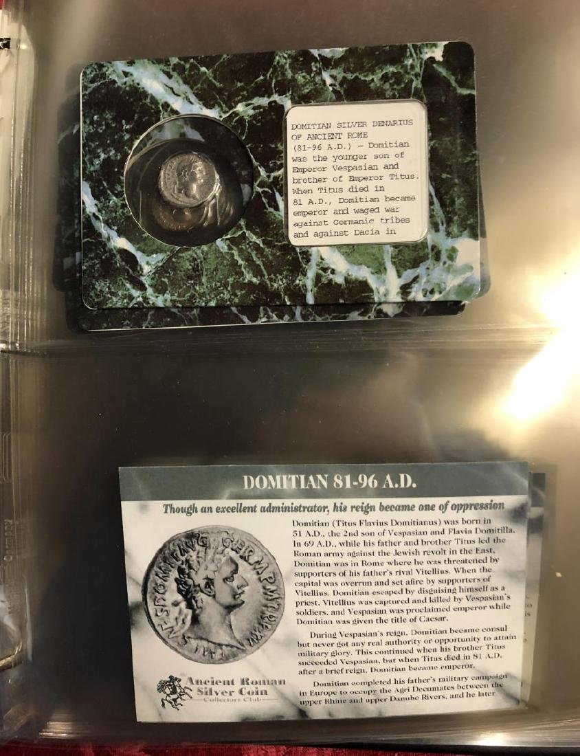 Binder with 23 Silver & Bronze Ancient Coins - 2
