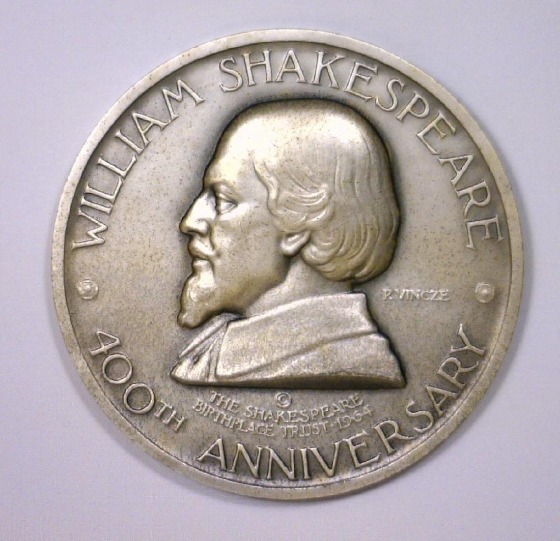 Wm. Shakespeare 400th Anniv. Sterling Medal w/Case - 2