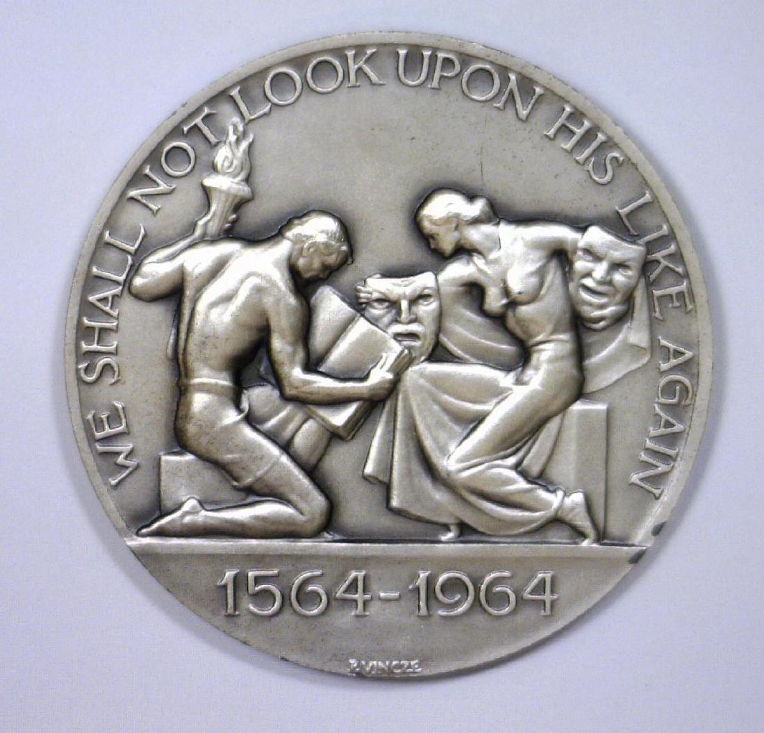 Wm. Shakespeare 400th Anniv. Sterling Medal w/Case - 3