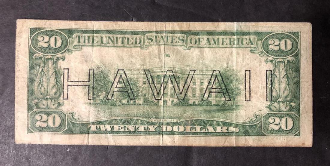 1934-A $20 FRN WW2 Note HAWAII Overprint Circ. - 2