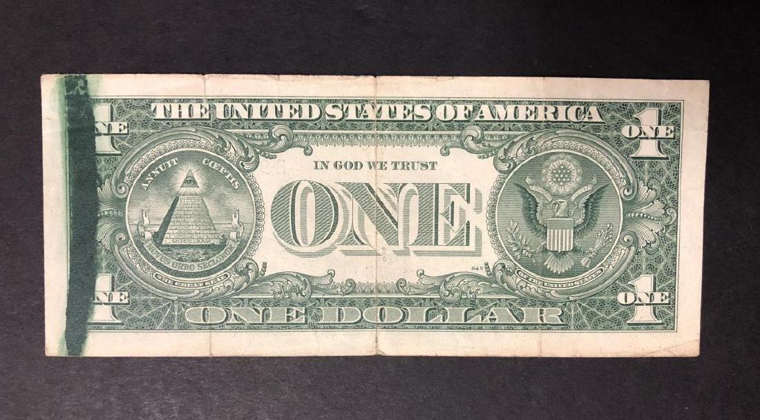 1963-A $1 FRN Smear Error w/BEP Rejection Mark