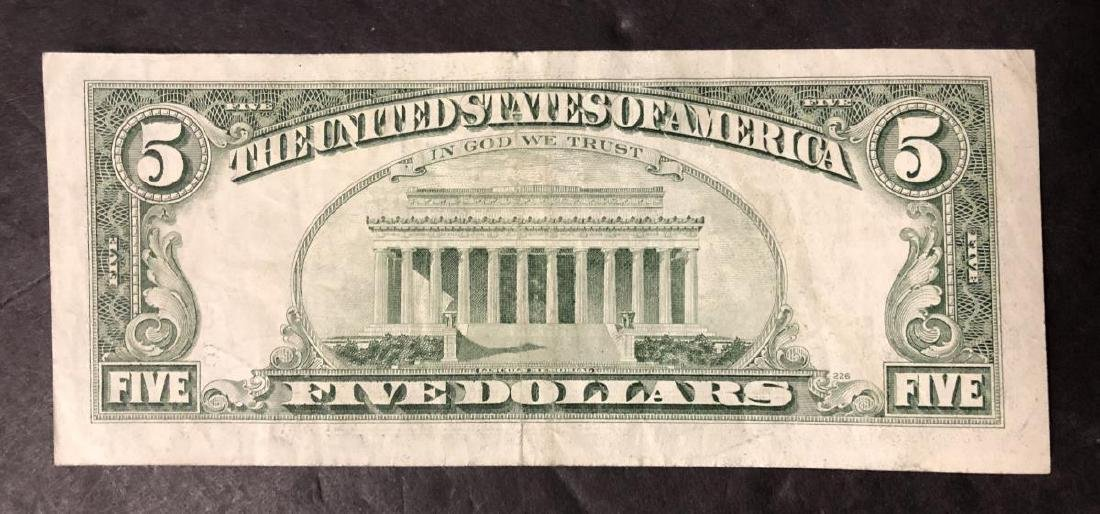 1985 $5 FRN Note Faulty Alignment Error - 4
