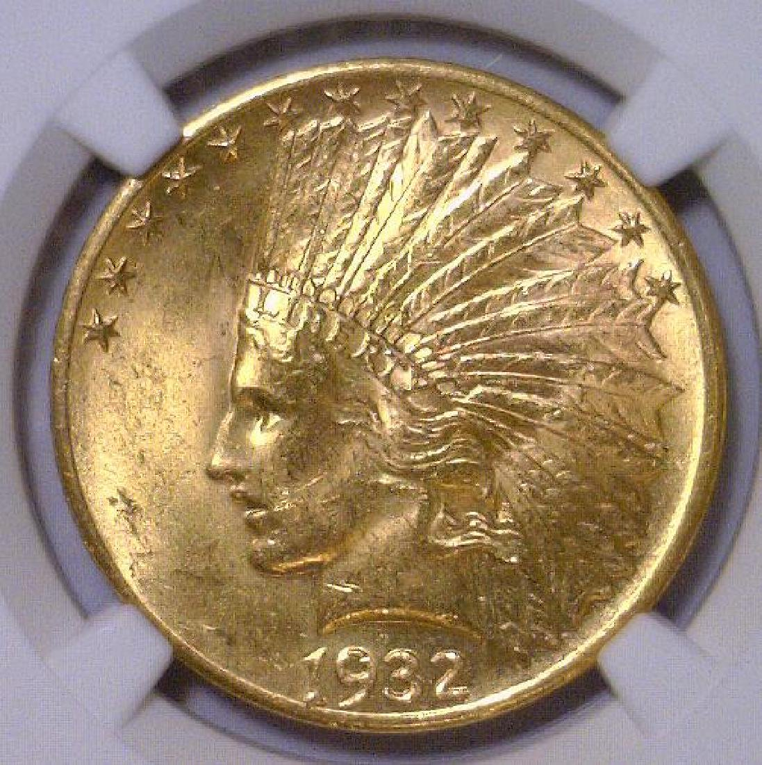 1932 $10 Indian Gold Eagle NGC MS63 - 2
