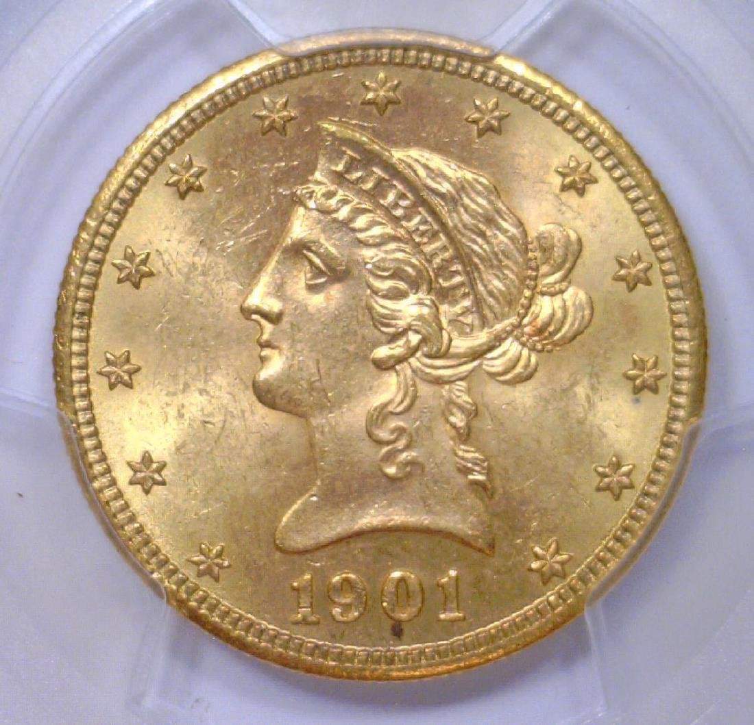 1901-S $10 Liberty Head Gold Eagle PCGS MS64