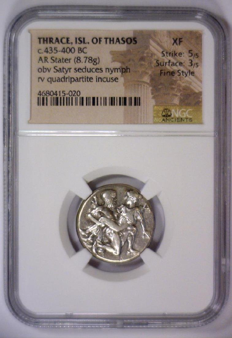 Thrace ISL. OF THASOS 435 BC AR Stater NGC XF