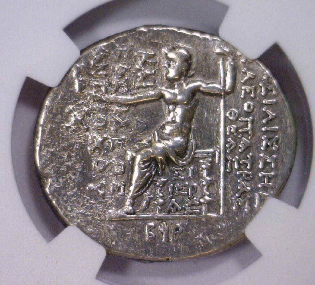Cleopatra SELEUCID 125 BC AR Tetradrachm NGC XF - 3