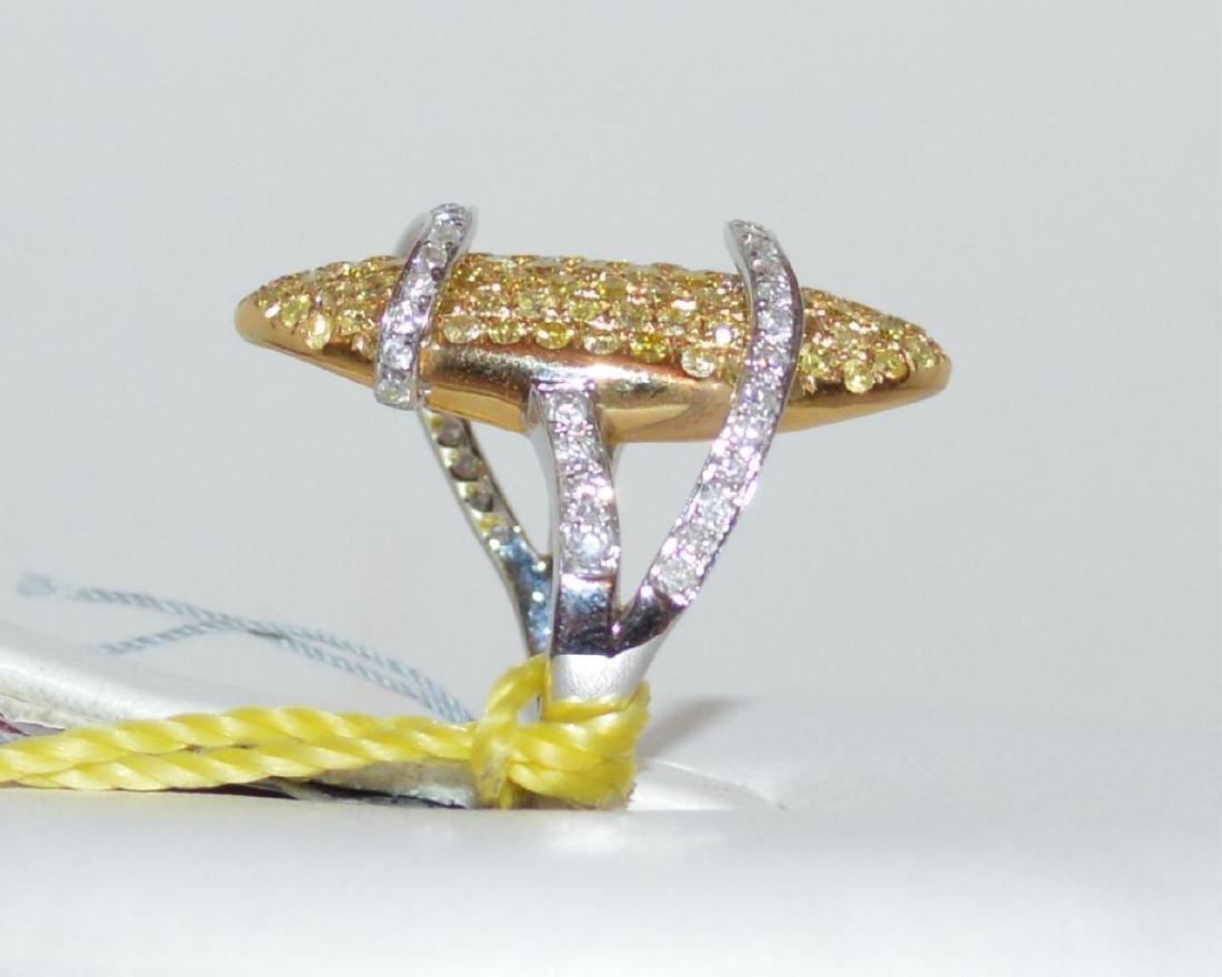 18kt fancy yellow diamond ring - 4