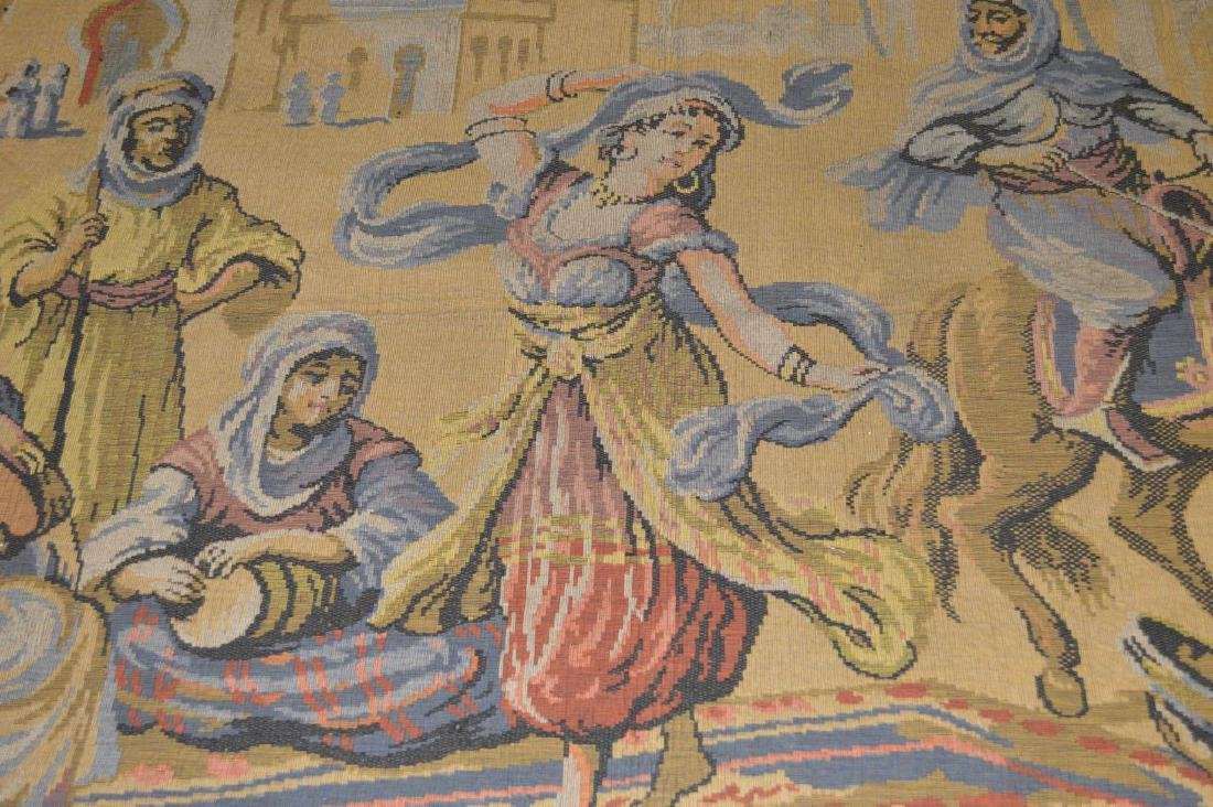 French Tapestry Arab Genre Scene Marked Rihs - 2