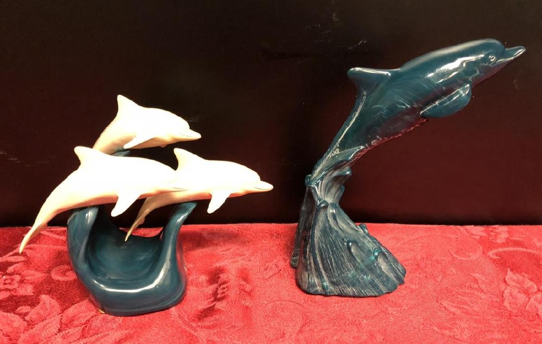 Lot of 5 Dolphin Figurines by Cook & John Perry - 4