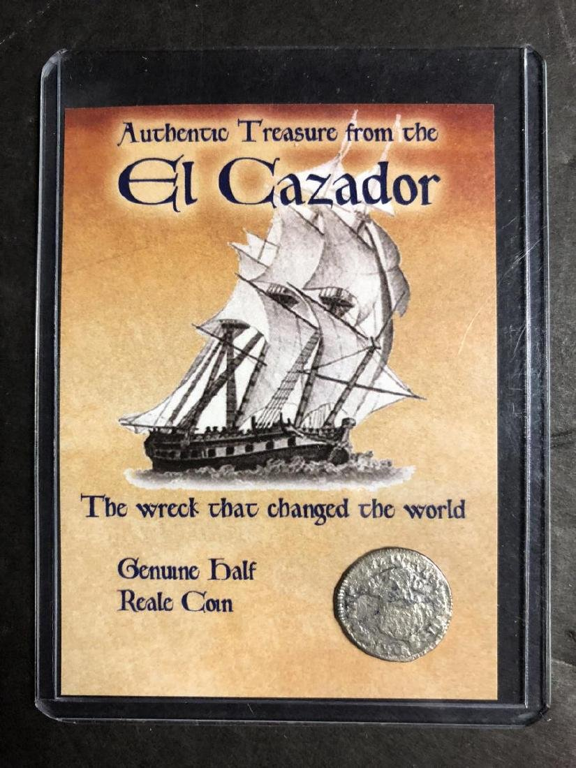 Trio of El Cazador Silver Shipwreck Treasure Coins - 3