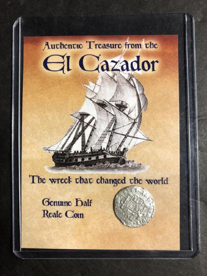 Trio of El Cazador Silver Shipwreck Treasure Coins - 4