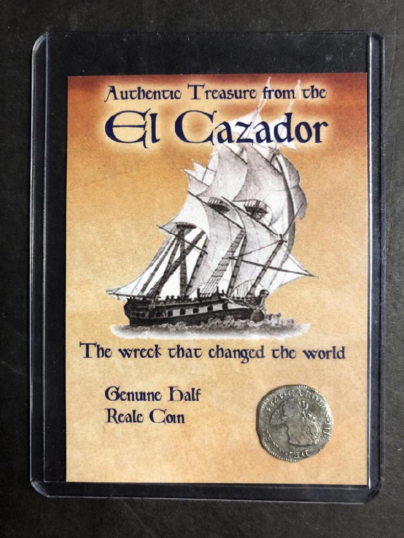 Trio of El Cazador Silver Shipwreck Treasure Coins - 5